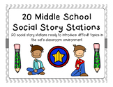 Intermediate and Middle School Social Stories Stations