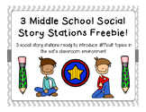 Middle School Social Story Stations FREEBIE!