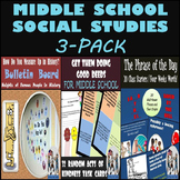 Middle School Social Studies 3-Pack: Great for the Beginning of the Year!