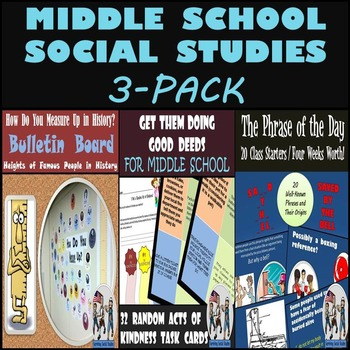 Middle School Social Studies 3-Pack: Great for the Beginni
