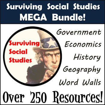 Middle School Social Studies Bundle - Begin the Year with Over 250 Resources!