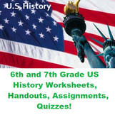 Middle School Social Studies US History Grade 6 and 7