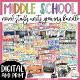 Middle School Socratic Seminar Reading Units BIG Bundle 6th 7th and 8th Grade