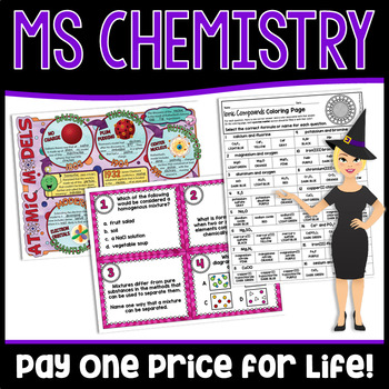 Middle School Chemistry Growing Bundle