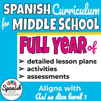 Middle School Spanish Curriculum Year 1 (Así se dice) (w/o workbook)