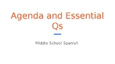 Middle School Spanish Daily Agenda Template