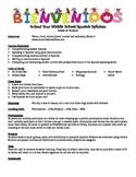 Middle School Spanish Syllabus