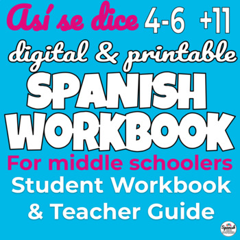 Middle School Spanish Year 2 Workbook ONLY (Así se dice)