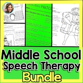 Middle School Speech Therapy Bundle | Speech and Language Activities