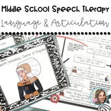 Middle School Speech Therapy | Speech and Language Resource for Mixed Groups