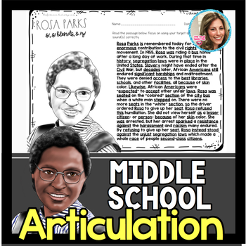 Middle School Speech Therapy | Articulation
