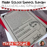 Middle School Speech Therapy | Articulation and Language | Speech and Language