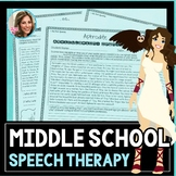 Middle School Speech and Language | Mixed Groups