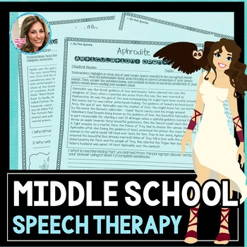 Middle School Speech and Language | Speech Therapy Worksheets
