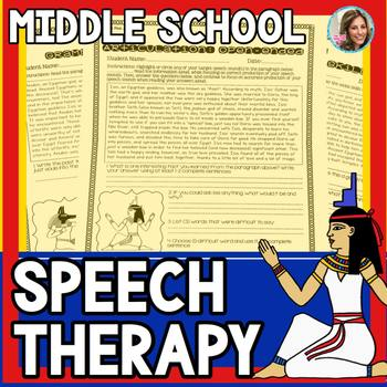 Middle School Speech and Language