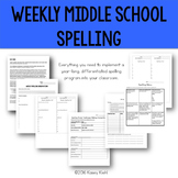 Middle School Spelling: A Year-Long, Differentiated Approach
