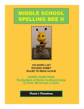 Middle School Spelling BEE II: Taken from The Big Book of Words You Should Know