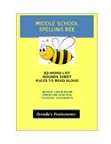 Middle School Spelling Bee - Brenda's Brainstorms (American Heritage Thesaurus)
