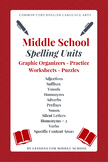 English Language Arts - Spelling & Vocabulary for Middle School - 30+ UNITS