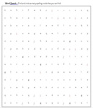 Middle School Spelling - PRINTABLE - 2 lists with QR Codes and worksheets
