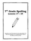 Middle School Spelling for the Busy Teacher – 7th Grade CCSS Focused (Unit 3)