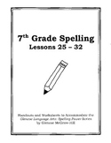 Middle School Spelling for the Busy Teacher – 7th Grade CCSS Focused (Unit 4)