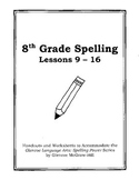 Middle School Spelling for the Busy Teacher – 8th Grade CCSS Focused (Unit 2)