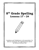 Middle School Spelling for the Busy Teacher – 8th Grade CCSS Focused (Unit 3)