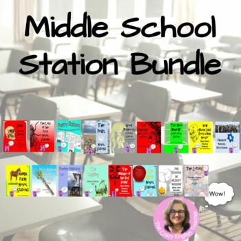 Middle School Station Bundle: Night,Poetry,Mythology,Holes,Animal Farm,Percy J