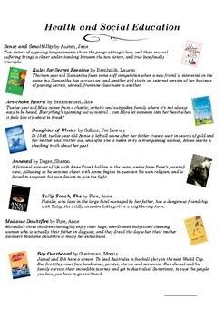 Middle School Student Book List BUNDLE - IB - MYP