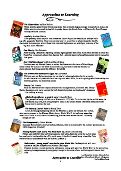 Middle School Student Book List - IB - MYP - V.3. Areas of Interaction