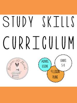 Middle School Study Skills Unit/Curriculum Bundle