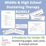 Middle School Stuttering Bundle for Speech Therapy #jun2018slpmusthave
