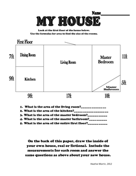 Middle School Substitute Lesson Plan - Area