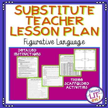 Middle School Substitute Teacher Lesson Plan - Figurative Language