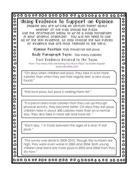 Middle School Substitute Teacher Lesson Plan - Opinion Writing