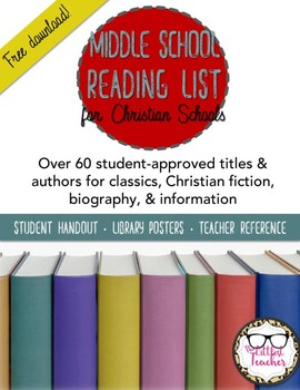 Middle School Suggested Reading List for Christian Schools