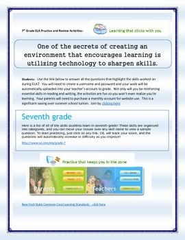 Middle School Summer Activities - Reinforcement/Enrichment - Internet Activities