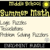 Middle School Summer Math Enrichment Bundle SAVE