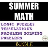 Summer Math Middle school Enrichment Bundle