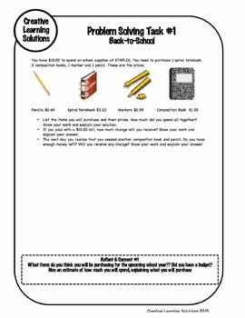 Middle School Math Extra Help Summer Packet