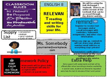 Middle School Syllabus