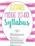 Middle & High School Syllabus