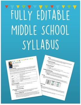 Middle School Syllabus Template