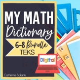 TEKS MIDDLE SCHOOL MATH BUNDLE DIGITAL DICTIONARY for GOOGLE DRIVE Editable