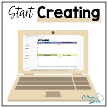 Middle School Math TEKS VOCABULARY BUNDLE DIGITAL DICTIONARY GOOGLE Editable