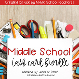 Middle School Task Card Bundle of Resources for Interactiv