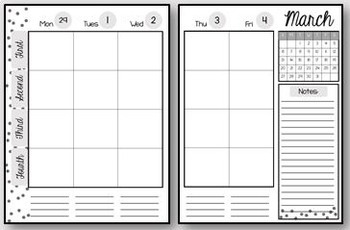 Middle School Teacher Binder - Planner and Organizer (Editable)