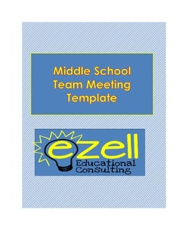 Middle School Team Meeting Template
