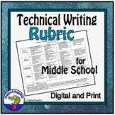Rubrics - Middle School Technical Writing Rubric